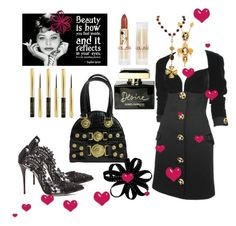 """Iconic Sophia Loren"" by mirandamir4 ❤ liked on Polyvore featuring Versace, Collistar, Oscar de la Renta, Dolce&Gabbana and Chanel"