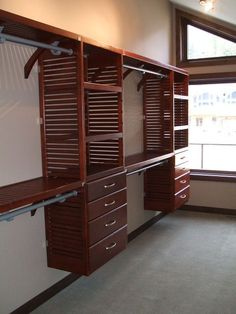 Merveilleux John Louis Home Solid Wood Shelving System For Bedroom Closet.