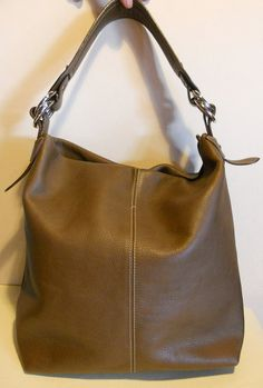 XL gorgeous vintage Italian leather tote by HeavenlyVintageBags, $125.00