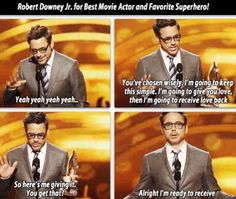RDJ's acceptance speech at the People's Choice Awards 2013