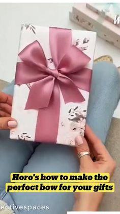 Diy Bow, Diy Ribbon, Ribbon Crafts, Bow Making Tutorials, Craft Tutorials, Creative Gift Wrapping, Creative Gifts, Cool Paper Crafts, Cute Crafts