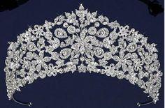 "Just gorgeous!  Intricate Floral 2 1/2"" Tall Czech Rhinestone Wedding Tiara - Affordable Elegance Bridal -"