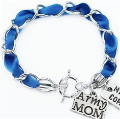 Support The Troops Bracelet! Cobalt, army, navy, airforce, marines, Milso- military love, military jewelry!