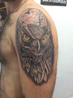Owl tatoo tatuaje buho