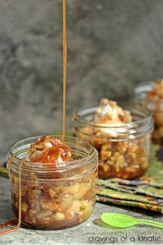 Fried Apples with Apple Caramel Sauce