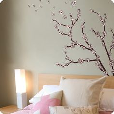 Japanese Cherry Blossom Wall Art Decals | Japanese Cherry Blossom : Custom Wall  Decals, Wall Decal Art, And Wall ... | Cherry Blossoms | Pinterest | Wall  ...