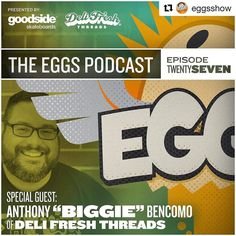 """I had a fantastic time talking with the guys from the @eggsshow - I appreciate them having me on their show.  Check them out & take a listen to my interview.  On this week's edition of #EGGS presented by @goodsideskateboards and @delifreshthreads we have a really exciting guest founder and owner of Deli Fresh Threads Anthony """"Biggie"""" Bencomo. Anthony and the guys had a great conversation talking about starting a brand doing what you love and making your passionin this case sandwichesyour…"""
