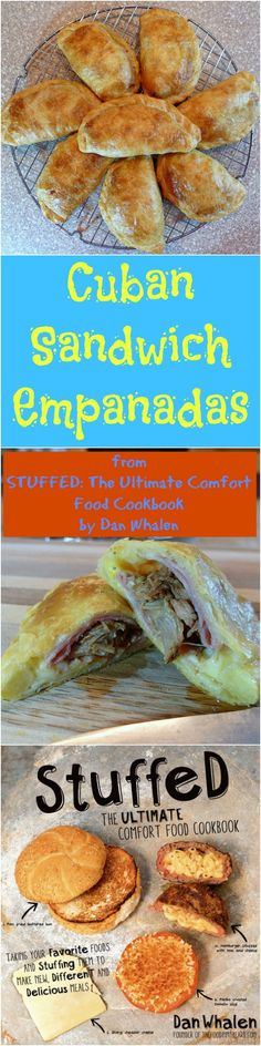 If you love stuffed food, you will love Cuban Sandwich ingredients stuffed into flaky empanada dough and then baked. Kind of like a Cuban Sandwich, and sort of like a hand pie, Cuban Sandwich Empanadas are the best of both worlds! From the book Stuffed, b