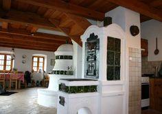 Mérmű stúdió Dutch Kitchen, Chalet Interior, Herd, House Plans, Brick, Farmhouse, Mansions, Architecture, House Styles