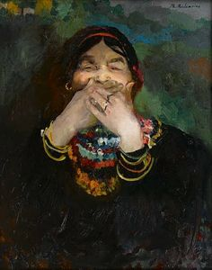 Laughing Baba by Russian Painter Filipp Malyavin (1869-1940)
