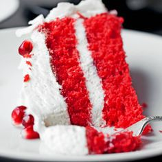 Red Coconut Cake - Przepis
