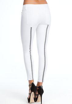 bebe | Embroidered Skinny Jeans - Clothing - Denim
