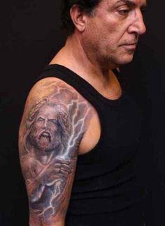 12 Lightning Sleeve Tattoo