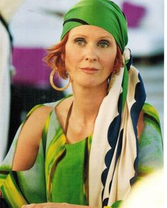 Roberto Cavalli Printed Tunic Top as seen on Miranda Hobbes in Sex and the City 2 | TheTake