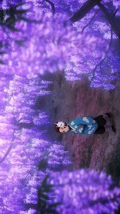 Demon Slayer:Kimetsu No Yaiba : Tanjirou among The Wisteria Flowers during Final Selection on Mount Fujikasan Demon Slayer, Slayer Anime, Wallpaper Pc, Computer Wallpaper, Animes Wallpapers, Anime Demon, Cute Anime Couples, Anime Shows, Anime Comics