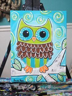 Owl painting by Amanda Harris:)