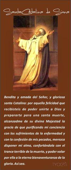 TARJETAS Y ORACIONES CATOLICAS: SANTA CATALINA DE SIENA