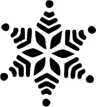 image result for snowflake clipart black and white christmas rh pinterest com  snowflake clipart black and white vector