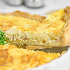 "Keto Quiche Recipe - ""Low Carb Lorraine"" & Our Perfect Low-Carb Crust Low Carb Quiche, Keto Quiche, Quiche Dish, Quiche Recipes, Egg Recipes, Gourmet Recipes, Low Carb Recipes, Snack Recipes, Recipes Dinner"