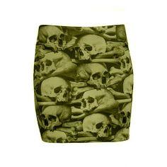 Skull Pile Mini Skirt by Kreepsville 666 #InkedShop #skull #skirt #skirts #style #fashion