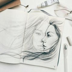Amazing Art Drawings Pencil Sketches Illustrations 26 Ideas For 2020 Pencil Art Drawings, Art Drawings Sketches, Drawings Of Love, Horse Drawings, Kawaii Drawings, Beautiful Sketches, Artist Sketchbook, Sketchbook Ideas, Pencil Portrait