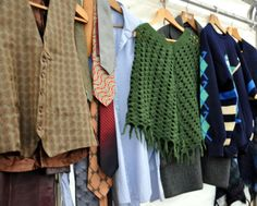Vintage clothes at Hay Does Vintage, Hay-on-Wye