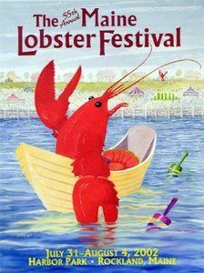 Official Web site of The Maine Lobster Festival, held each August in Rockland, Maine. Ticket and cooking contest information, schedule of events, parade and race sign-up. Lobster Fest, Harbor Park, Rockland Maine, Cooking Contest, Festivals Around The World, Poster Pictures, Festival Posters, Beach Cottages, Travel Posters