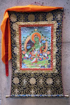 "The MOA Shop: ""Green Tara Thangka Scroll"" by Dozngkar Choede Monastery in Tibet."