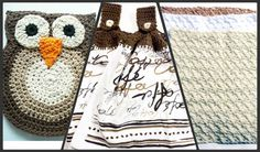 Cotton #Kitchen Gift Set in Browns by ACCrochet on Etsy, $24.00