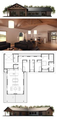 Container House - Plan de Maison - Who Else Wants Simple Step-By-Step Plans To Design And Build A Container Home From Scratch? L Shaped House Plans, Modern House Plans, Small House Plans, House Floor Plans, Casas The Sims 4, Building A Container Home, House Blueprints, Sims House, Farmhouse Plans
