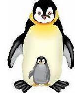 """35"""" Jumbo Mylar Penguin Balloon Black"""