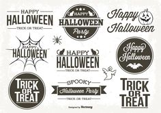 Here is an awesome set of retro style typographic Halloween labels just on time for all your Halloween projects. Enjoy!