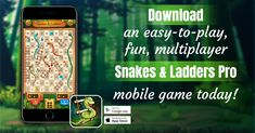 Download an easy-to-play and fun game on your mobile today! #fungame #mobilegame #snakesandladders #familygame #easytoplay #onlinegame #offlinegame Board Game Online, Offline Games, Classic Board Games, Family Board Games, Games Today, Ladders, Mobile Game, Snakes, Fun Games