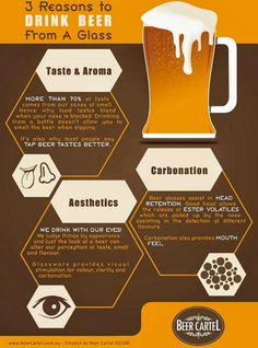 3 Reasons to Drink Beer from a Glass #beer #beerlovesyou