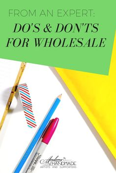 From retail expert Stacy Wong, learn the do's and don'ts of wholesaling tips! Retail Business Ideas, Business Advice, Home Based Business, Creative Business, Business Class, Etsy Business, Wholesale Yarn, Wholesale Boutique, Buy Wholesale