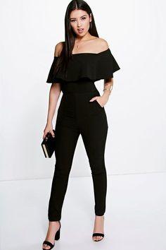 Boutique Taylor Frill Off The Shoulder Jumpsuit