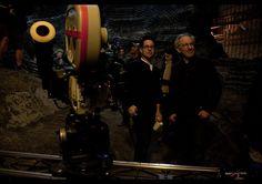 J.J. Abrams & Steven Spielberg on the set of Super 8, 2011