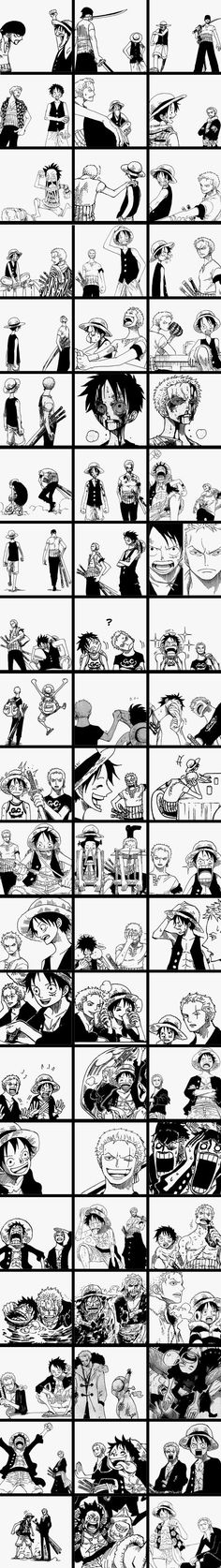 Zoro and Luffy, the original two :D. If the crew was to every break up. Zoro would stay by Luffy's side One Piece Anime, Anime One, Anime Stuff, One Piece World, One Piece 1, Manga Anime, Tsurezure Children, One Piece Drawing, One Piece Funny