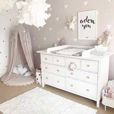 How to Design a Neutral Gender Nursery - Children's Spaces - Babyzimmer Baby Bedroom, Baby Room Decor, Nursery Room, Girls Bedroom, Bedroom Ideas, Trendy Bedroom, Taupe Nursery, Baby Room Design, Nursery Design