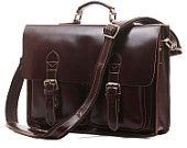 Genuine Leather Style Men's Briefcase Bag Handbag Laptop Bag Messenger Bag
