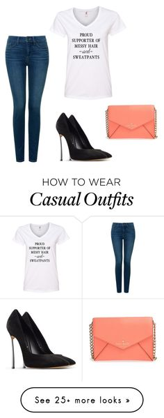 """""""Casual Day"""" by jayda-jj on Polyvore featuring NYDJ, Casadei and Kate Spade"""