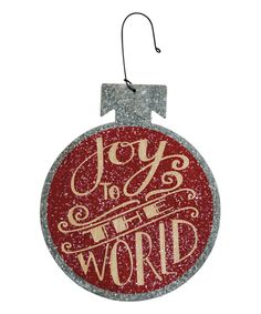 Look at this #zulilyfind! 'Joy to World' Tin Flat Bulb Ornament by Primitives by Kathy #zulilyfinds