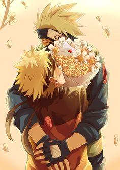 :) *smiles like a prevert* Kakashi and Naru-chan sitting in the tree K-I-S-S-I-N-G
