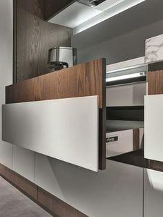 Cozinha linear com puxadores integrados OPERA | Cozinha linear by ELAM