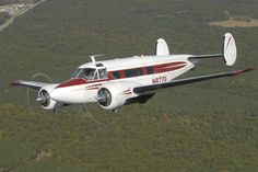 Model 18 Twin Beech..saw many of these flying about when I was a youngster! Great sounding piston engines!