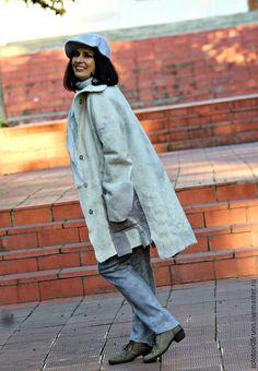"""Купить Авторское пальто """"White ash"""". Коллекция """"Пепел"""". - абстрактный, белый, серый, пальто"""