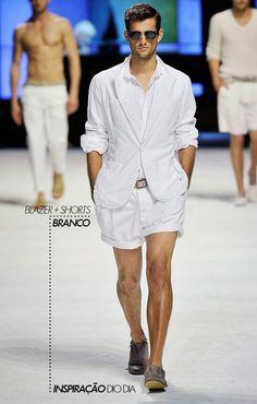Inspiração do Dia | White: blazer + shorts