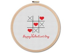 Happy Valentine's Day, Counted Cross stitch, Pattern PDF, Cross Stitch Chart , Cute Cross Stitch, Cross stitch pattern, pixel art, 0197