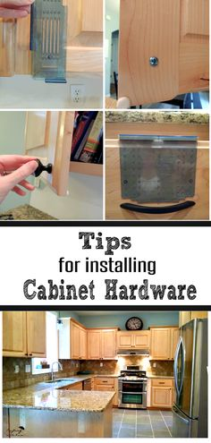 This is a very nice tutorial from Crafting in the Rain on how to install cabinet hardware. Steph uses flat black hardware on maple cabinets and the results are beautiful!