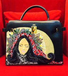 how much does a birkin bag cost - Hand painted Hermes herbag by artist love Marie aka heart ...